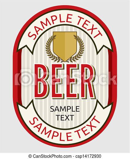 birra, etichetta - csp14172930