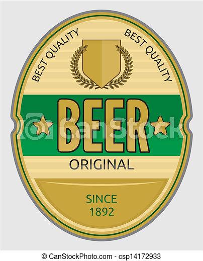 birra, etichetta - csp14172933