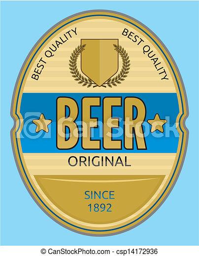 birra, etichetta - csp14172936