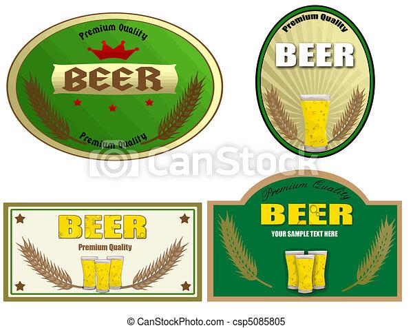 birra, etichette, disegno - csp5085805