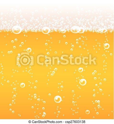 birra, schiuma, bolle, struttura - csp27603138