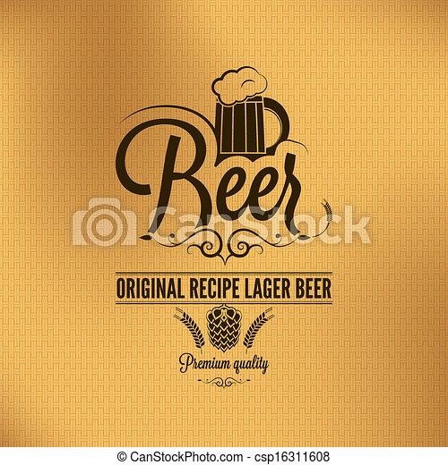 birra, vendemmia, fondo, birra chiara - csp16311608