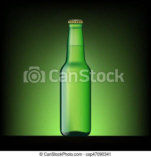 birra, verde, bottiglia - csp47090341