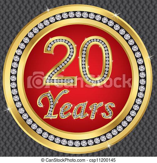 birthda, anniversario, anni, 20, felice - csp11200145