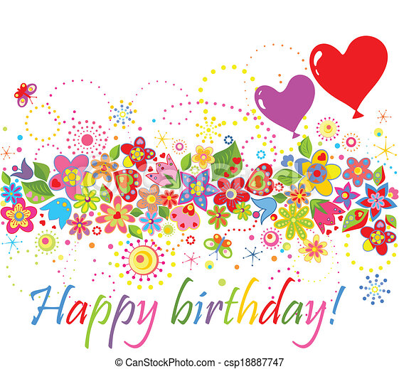 birthday!, ευτυχισμένος  - csp18887747