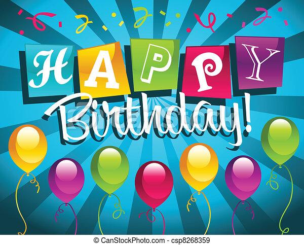 birthday!, ευτυχισμένος  - csp8268359