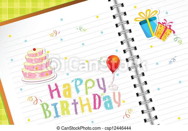 birthday, 日記 - csp12446444