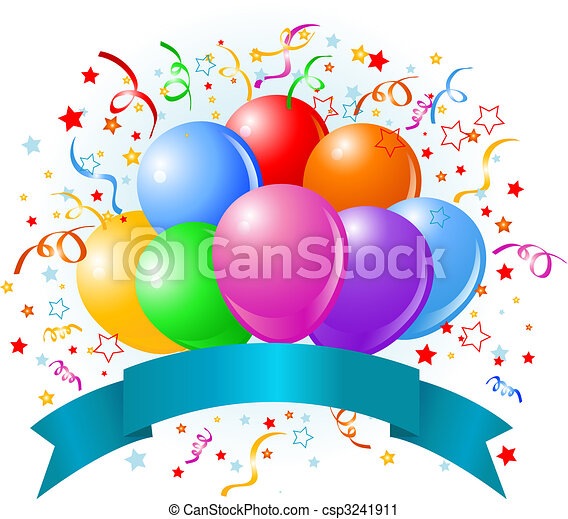 birthday, 風船, デザイン - csp3241911