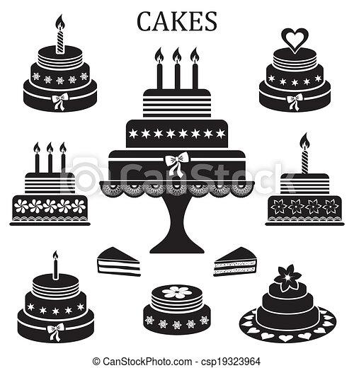 Birthday and wedding cakes - csp19323964