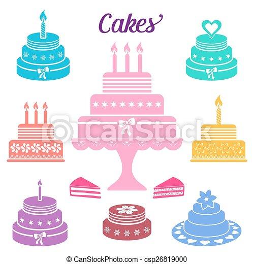 Birthday and wedding cakes - csp26819000