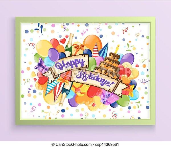 Birthday Anniversary Party Invitation Card Template