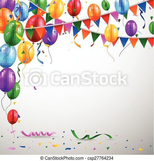 Birthday balloon - csp27764234