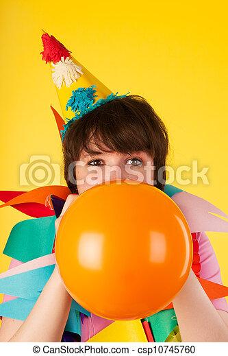 Birthday balloon - csp10745760