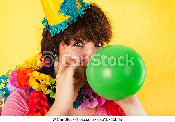 Birthday balloon - csp10745635