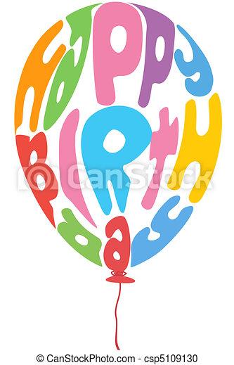birthday balloon - csp5109130