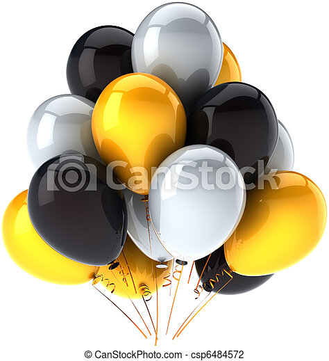 Birthday balloons party decoration - csp6484572