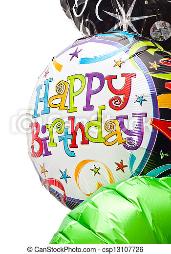 Birthday balloons - csp13107726