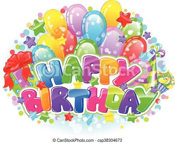 Birthday bright composition - csp38304673