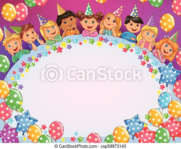 Birthday Bright Frame Cute Kids Cool Birthday Bright Frame Cute Kids