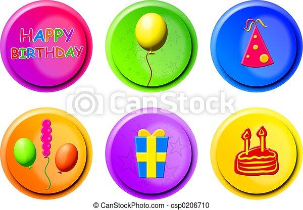 birthday buttons - csp0206710