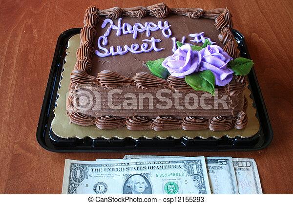 Groovy Birthday Cake And Money Decorated Sixteenth Birthday Cake With Personalised Birthday Cards Epsylily Jamesorg
