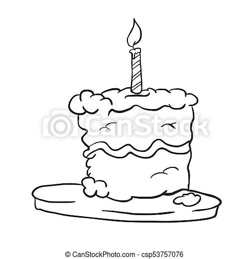 Birthday Cake Black Birthday Cake On A Plate Black And White