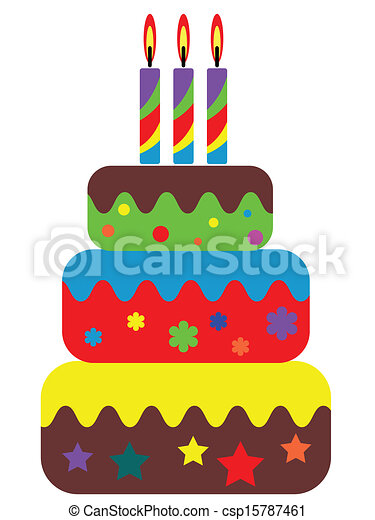 Birthday cake - csp15787461