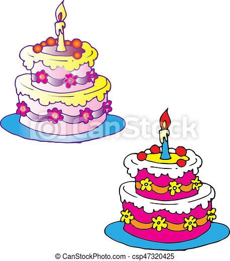 Birthday cake - csp47320425