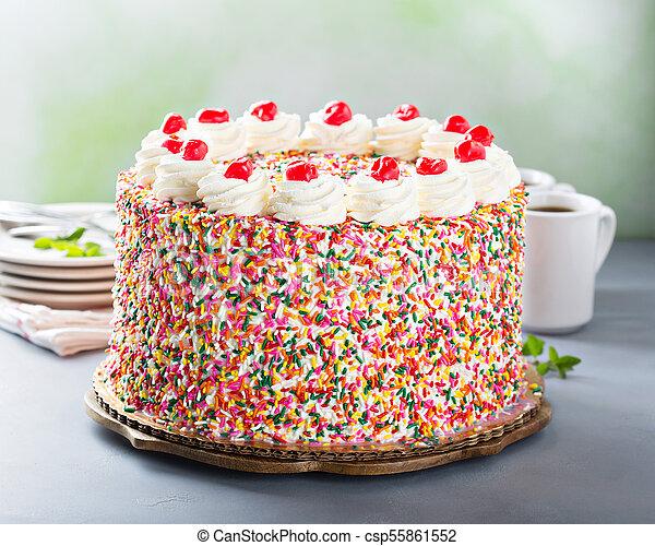 Awe Inspiring Birthday Cake Covered In Sprinkles Birthday Cake Covered In Personalised Birthday Cards Epsylily Jamesorg