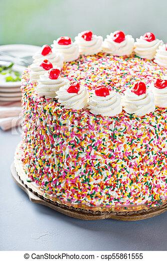 Superb Birthday Cake Covered In Sprinkles Birthday Cake Covered In Personalised Birthday Cards Paralily Jamesorg