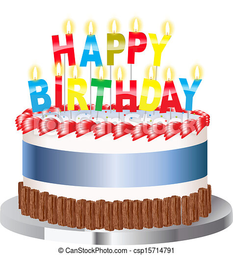EPS Vectors of Birthday cake birthday cake csp15714791 Search