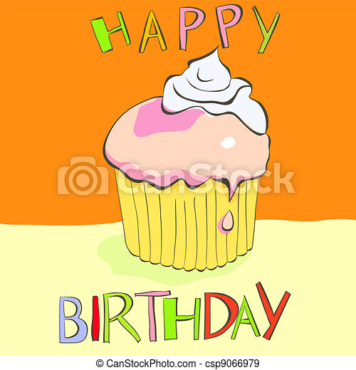 Birthday cake - csp9066979