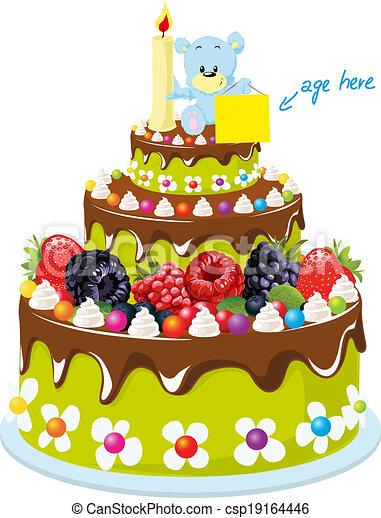 birthday cake - csp19164446
