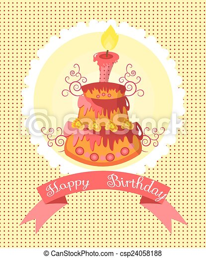 Birthday cake - csp24058188