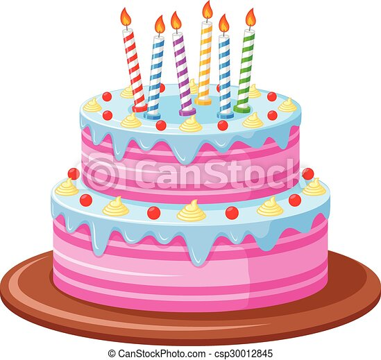 Vector illustration of birthday cake eps vector Search Clip Art