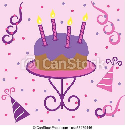 Birthday Cake - csp38479446