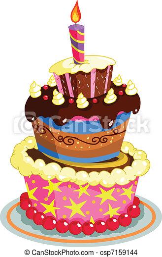 Birthday cake - csp7159144