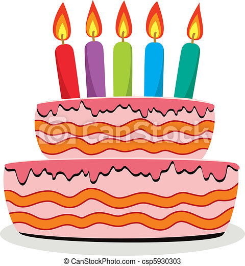 vector birthday cake with burning candles vectors search clip art rh canstockphoto com birthday cake vector ai vector birthday cake free