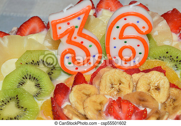 Admirable Birthday Cake Garnished With Cream And Lots Of Fresh Fruit Personalised Birthday Cards Epsylily Jamesorg