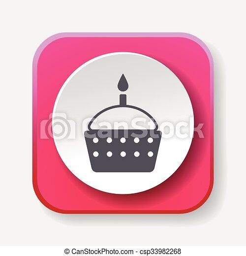 birthday cake icon - csp33982268