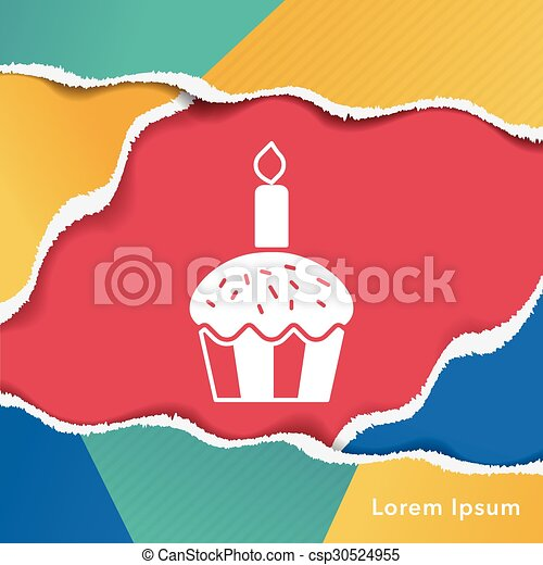 birthday cake icon - csp30524955