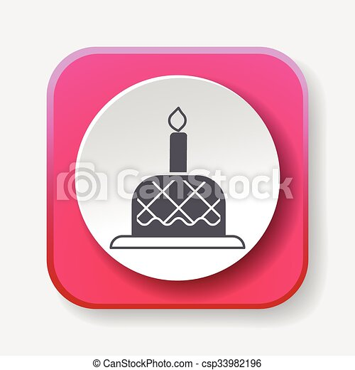 birthday cake icon - csp33982196