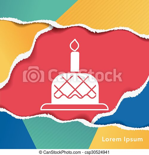 birthday cake icon - csp30524941