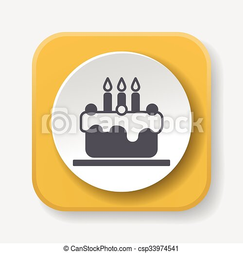 birthday cake icon - csp33974541