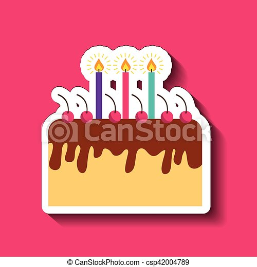 birthday cake icon - csp42004789