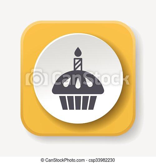 birthday cake icon - csp33982230