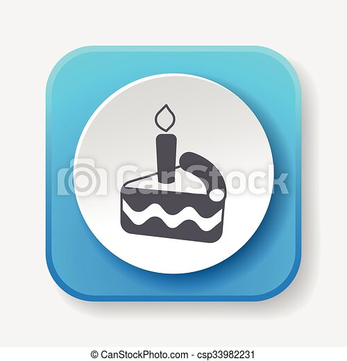 birthday cake icon - csp33982231