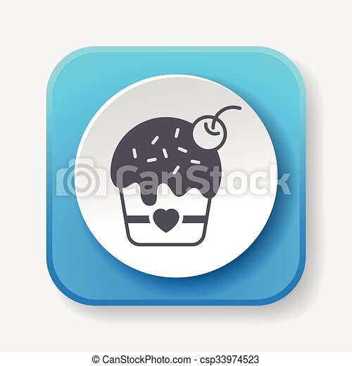birthday cake icon - csp33974523