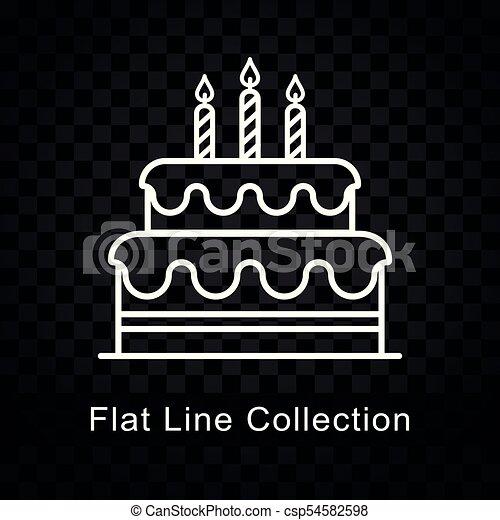 Illustration Of Birthday Cake Icon On Checkered Background Eps