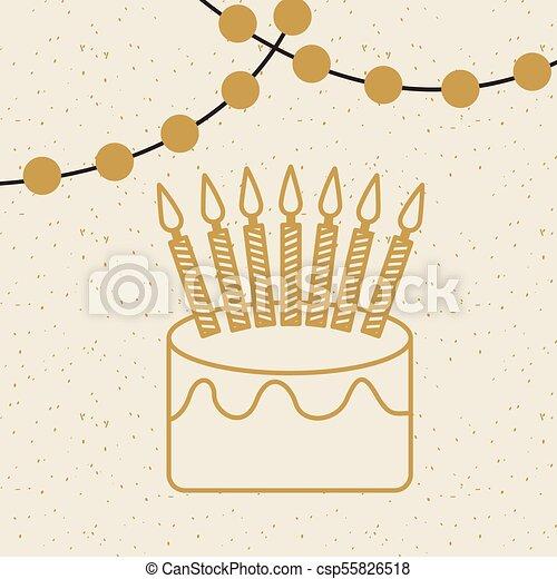 birthday cake icon - csp55826518